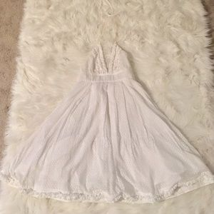 J Crew- White Halter Dress
